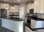 custom kitchen with modern farmhouse detail
