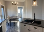 dining area with french garden doors to future patio